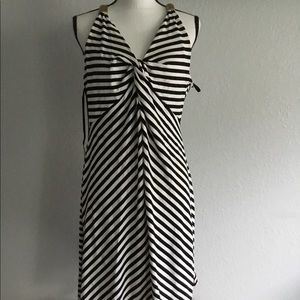 Kenneth Cole Xl Black and white stripe maxi dress